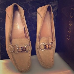 Tan Gucci loafers
